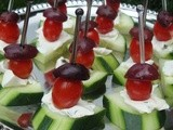 Cucumber, Tomato and Olive Hors d'Oeuvres