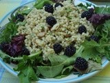 Greens 'n' Grains Salad with Fresh Blackberries
