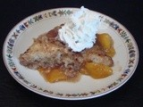 Peach Pudding Cake with Brown Sugar Sauce