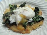 Poached Eggs with Spinach and Hash Browns