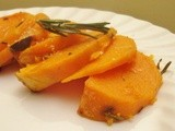 Sweet Potatoes Baked with Rosemary and Salt