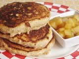 Whole Grain Pancakes with Spiced Apple Syrup