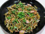 Indian Style Sword Bean Pod/Cod Stirfry