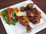 Mexican Roasted Chicken with Mexican Salad