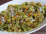 Padwal Chanadal Bhaji ~ Snake Gourd Stirfry with Chanadal