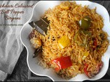 Achaari Capsicum Biryani using leftover Pickle