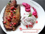 Beetroot Infused Grilled Basa Fish and Radish - Pomegranate Dip / Diet Friendly Recipes - 14 / #100dietrecipes