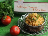 Cabbage, Tomato & Egg Rice / Lunch Box Recipes