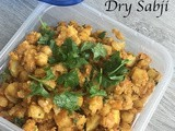 Chickpea Potato Dry Sabji or Curry