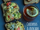 Chickpeas & Avocado Salad Sandwich / Healthy Sandwich