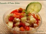 Cucumber & Dates Salsa - Shhhhh Cooking Secretly Challenge 1