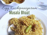 Egg Kuzhipaniyaram Masala Bhaat / Egg Appe Masala Bhaat ( No Tomato Recipe )