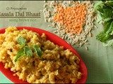 Masala Dal Bhaat Using Brown Rice / Diet Friendly Recipes - 9 / #100dietrecipes