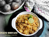 Potato Biryani Using Seeraga Samba Rice