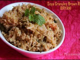 Soya Granules Brown Rice Biryani / Diet - Friendly Recipe - 68 / #100dietrecipes