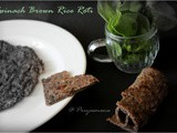 Spinach Brown Rice Roti / Diet Friendly Recipe - 38 / #100dietrecipes