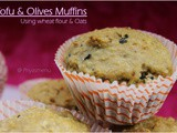 Tofu & Olives Savory Muffin / Diet Friendly Reicpe - 74 / #100dietrecipes