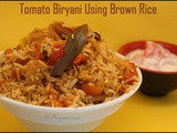 Tomato Biryani Using Brown rice