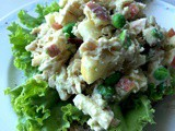 Tuna, Apple, Green peas and Hummus Sandwich / Healthy Sandwich