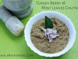 Turkey Berry & Mint Chutney / Sundakkai & Pudhina Chutney / Chutney Recipe - 69 / #100chutneys