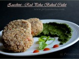 Zucchini - Red Poha Baked Cutlet / Diet Friendly Recipe - 31 / #100dietrecipes