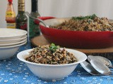 Arroz con Coco y Lentejas – Coconut Rice with Lentils #SundaySupper