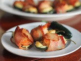 Bacon-wrapped Shrimp Jalapeño Poppers #SundaySupper