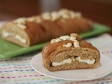 Caramelized Garlic Chèvre Stuffed Bread #BreadBakers