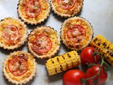 Cheesy Grilled Corn Tartlets #BakingBloggers