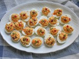 Coronation Chicken Deviled Eggs #SundaySupper