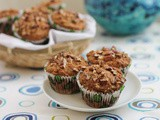 Country Applesauce Pecan Muffins #MuffinMonday