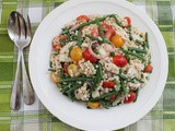 Crunchy Green Bean, Tomato, Chicken and Pearl Couscous Salad