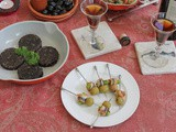 Gildas Picantes – Spicy Anchovy Olive Skewers #SundaySupper