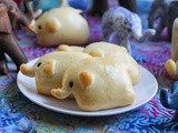 Ham and Cheese Elephant Rolls #BreadBakers