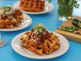 Mexican Cornbread Waffles #BreadBakers