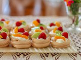 Mini Fruit-topped Pavlovas #BakingBloggers