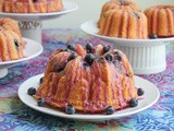 Peach Rosé Blueberry Bundt #BundtBakers