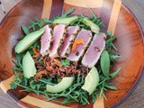 Red Camargue and Wild Rice Salad with Tuna #SundaySupper