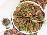 Roast Za'atar Chicken and Eggplant Salad