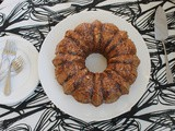 Sticky Pecan Pie Bundt #BundtBakers