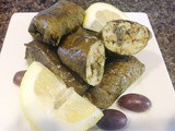 Stuffed Grape Leaves with Rice and Herbs