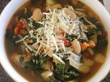 Vegetarian Soup with Swiss Chard and Kale