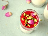 Cardamom and Pomegranate Panna cotta
