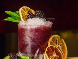 Blackberry Basil Manischewitz Mojitos