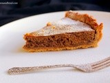 Gingerbread Caramel Pie (using up leftover gingerbread dough)