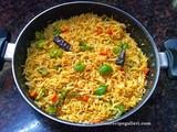 Capsicum Pulao | Capsicum Rice | How To Make Capsicum Masala Rice