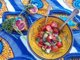 Persian Salad of Tomato, Pomegranate and Cucumber