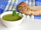 The challenge that comes with eating for two and a recipe for pea and mint soup