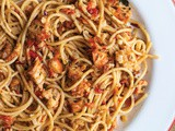 {Recipe} Prawn Chilli Garlic Spaghetti