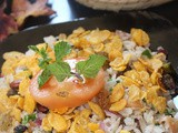 Poha Bhel (No cook Flattened Rice Snack)
